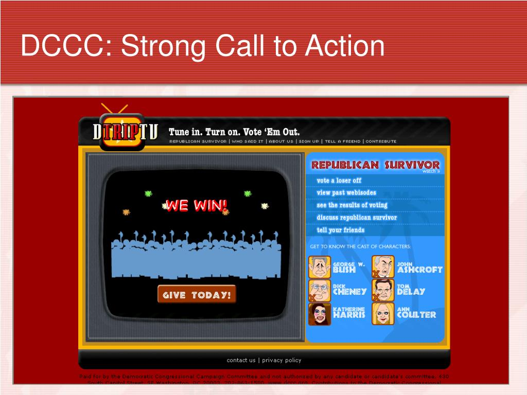 DCCC: Strong Call to Action