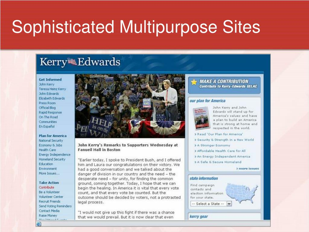 Sophisticated Multipurpose Sites