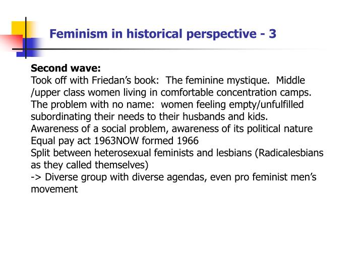 Feminism in historical perspective - 3