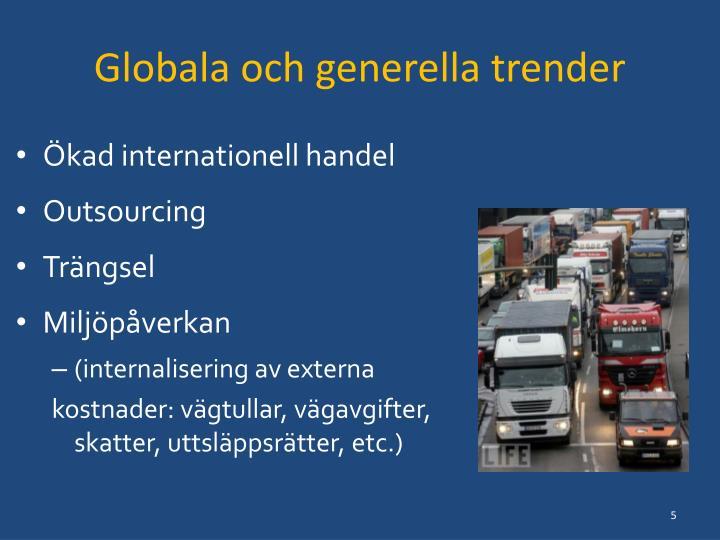 Globala och generella trender