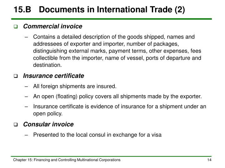 15.BDocuments in International Trade (2)