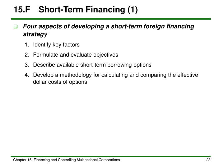 15.FShort-Term Financing (1)