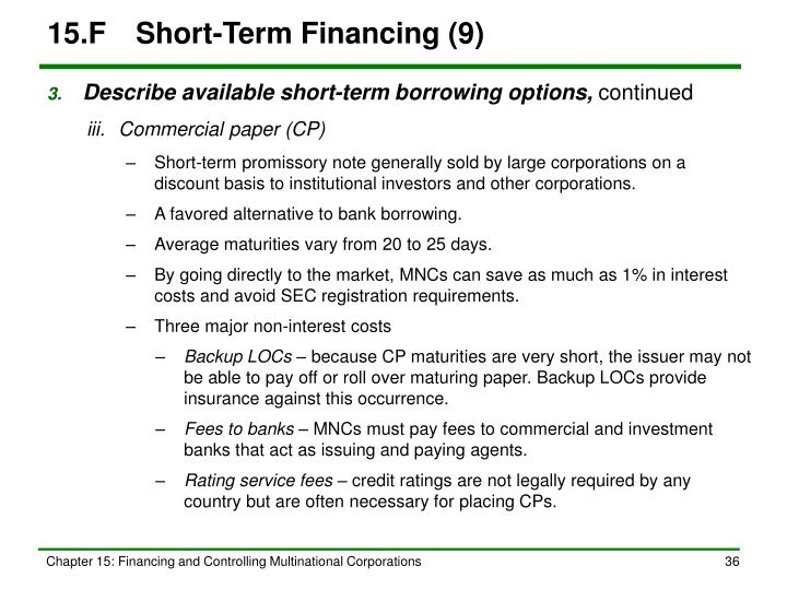 15.FShort-Term Financing (9)