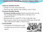 social security benefit for worker s injury esi