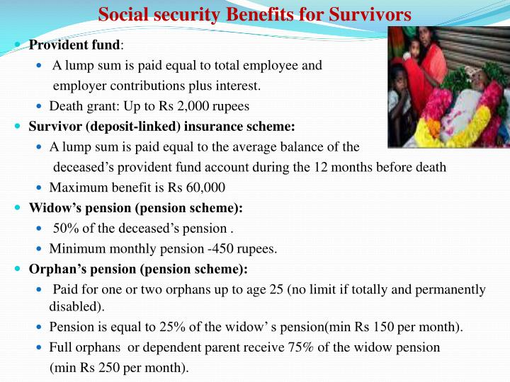Social security Benefits for Survivors
