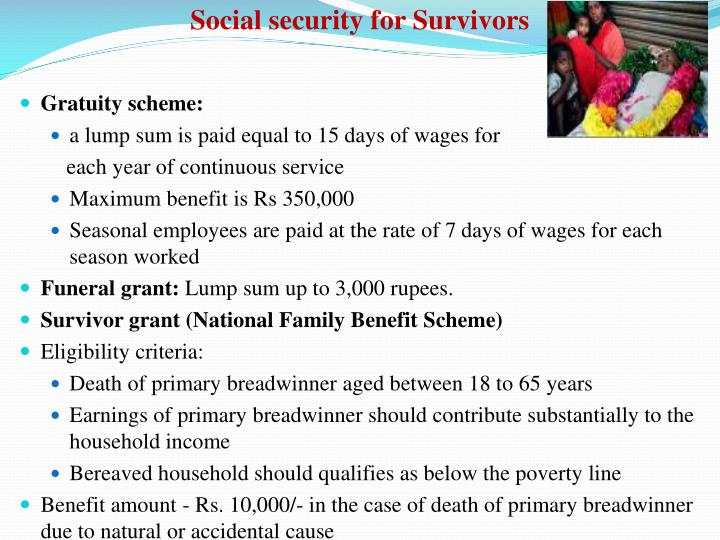 Social security for Survivors