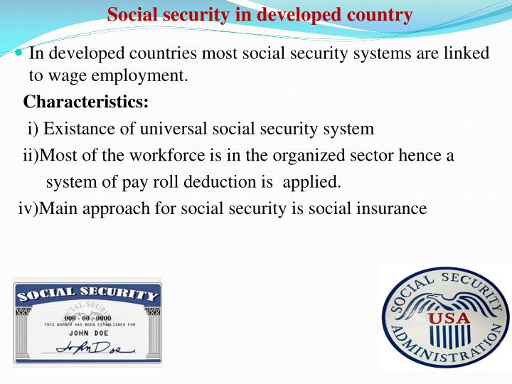 Social security in developed country