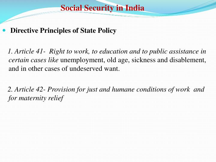 Social Security in India