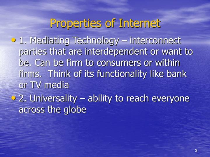 Properties of Internet
