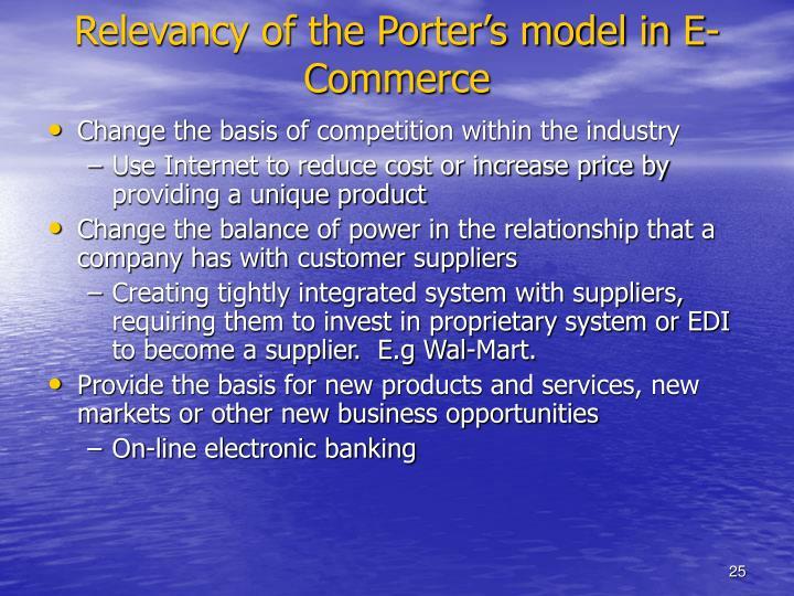 Relevancy of the Porter's model in E-Commerce