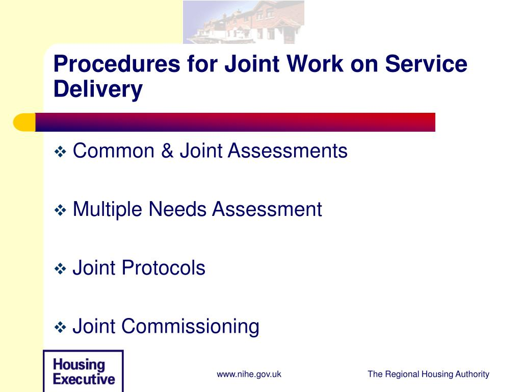 Procedures for Joint Work on Service Delivery