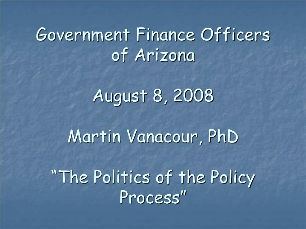 Government Finance Officers