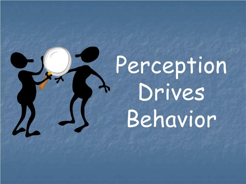 Perception Drives Behavior