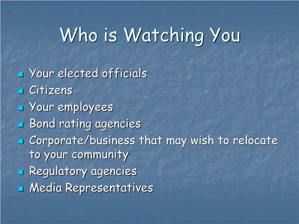 Who is Watching You