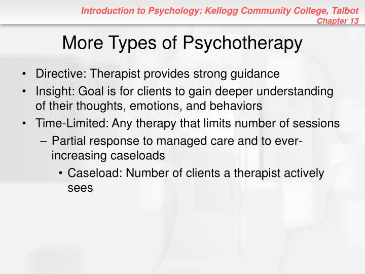 More types of psychotherapy