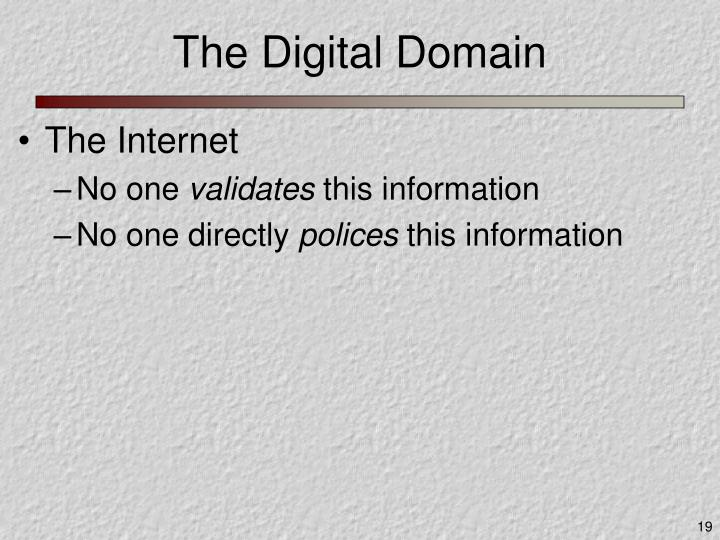 The Digital Domain