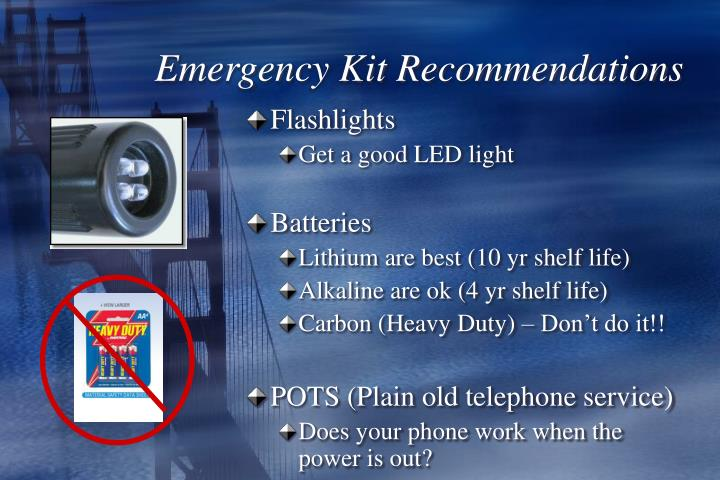 Emergency Kit Recommendations