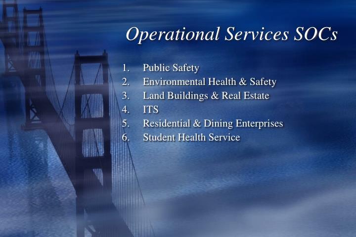 Operational Services SOCs