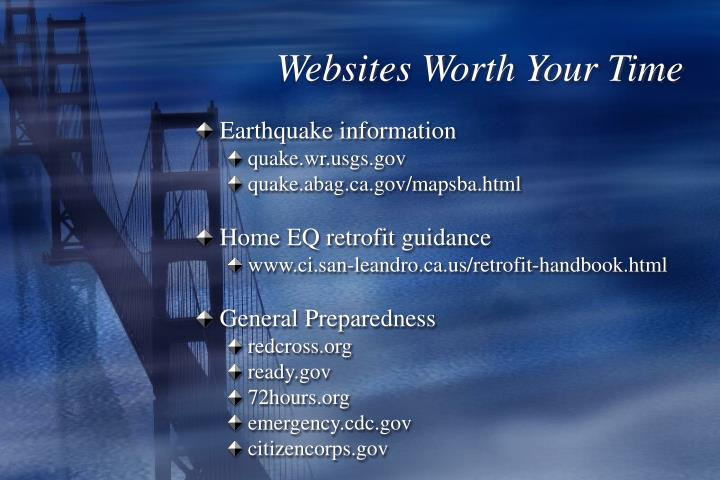 Websites Worth Your Time