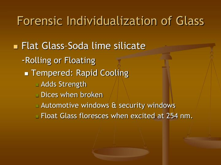 Forensic Individualization of Glass