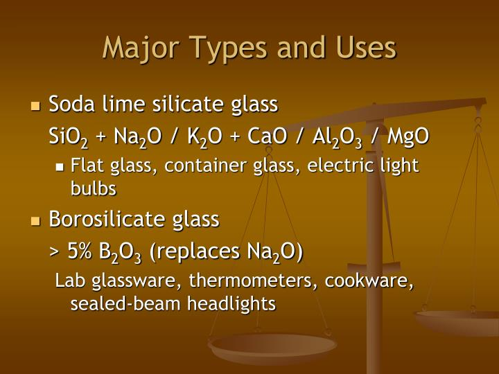 Major Types and Uses