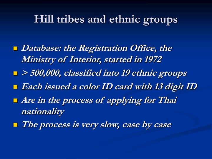Hill tribes and ethnic groups