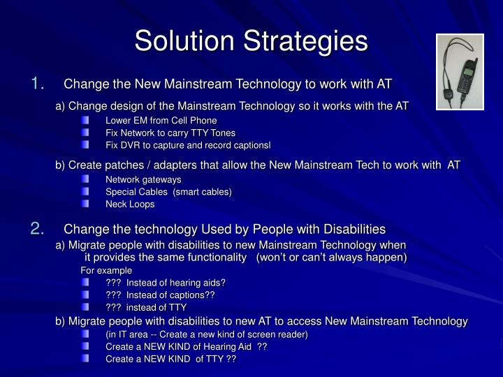 Solution Strategies