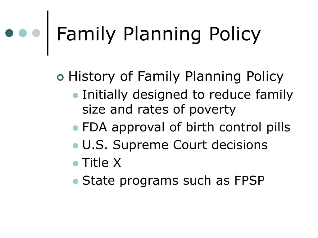 Family Planning Policy