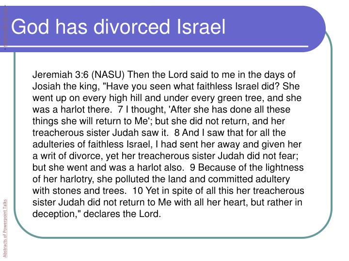 God has divorced Israel