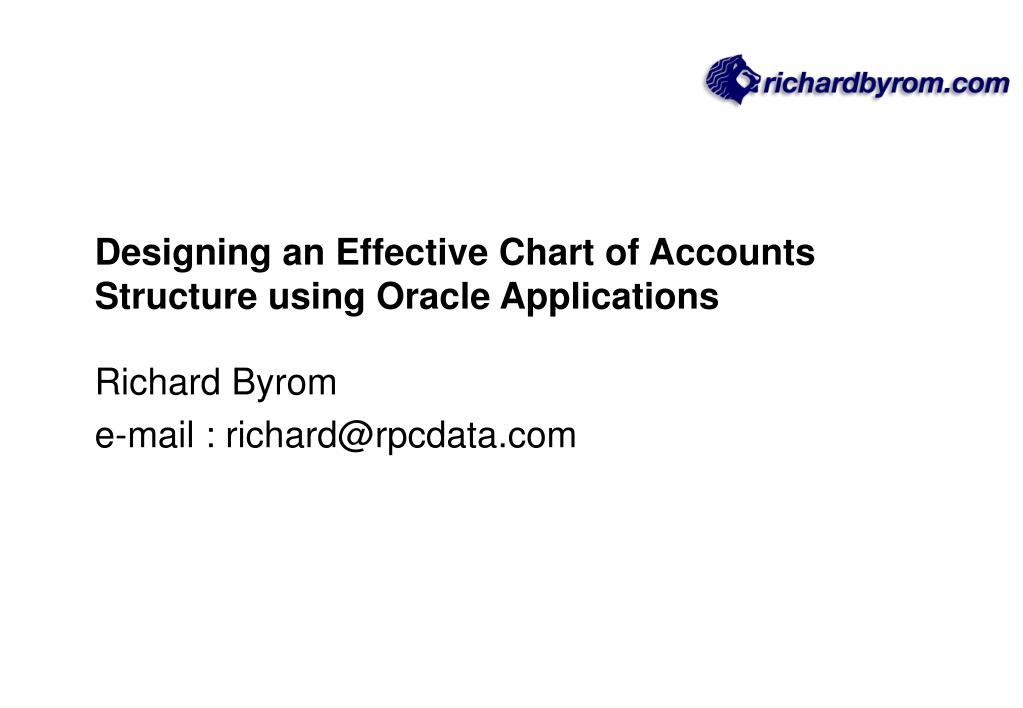 Designing an Effective Chart of Accounts Structure using Oracle Applications