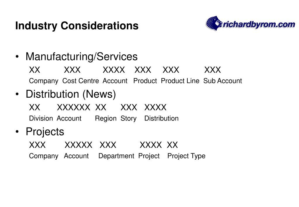 Industry Considerations