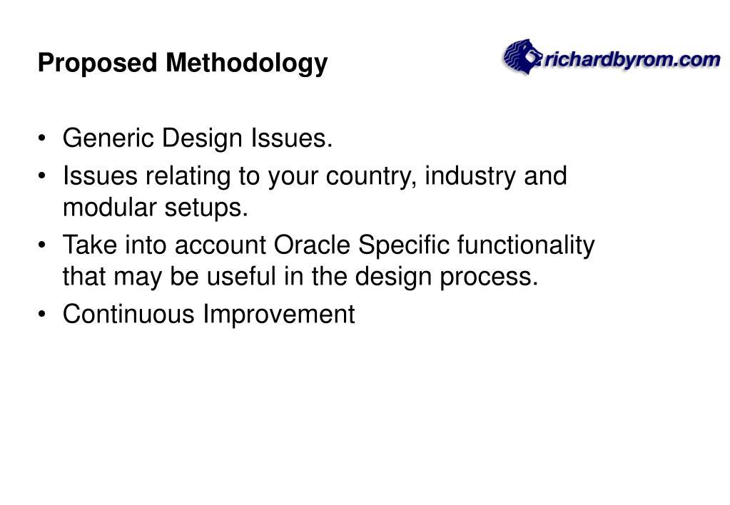Proposed Methodology