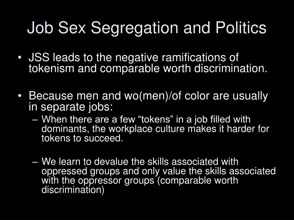 Job Sex Segregation and Politics