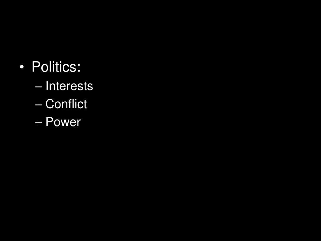 Politics: