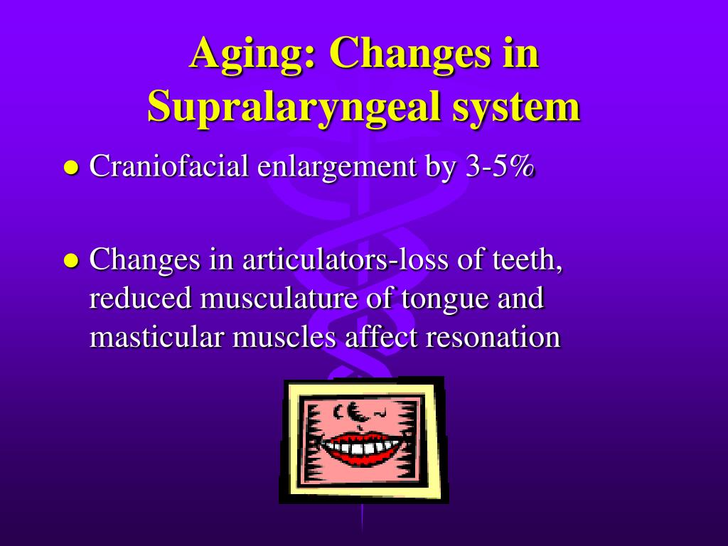 Aging: Changes in Supralaryngeal system