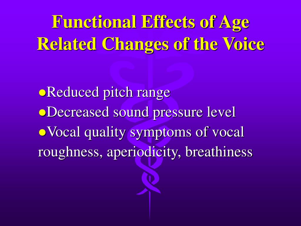 Functional Effects of Age Related Changes of the Voice