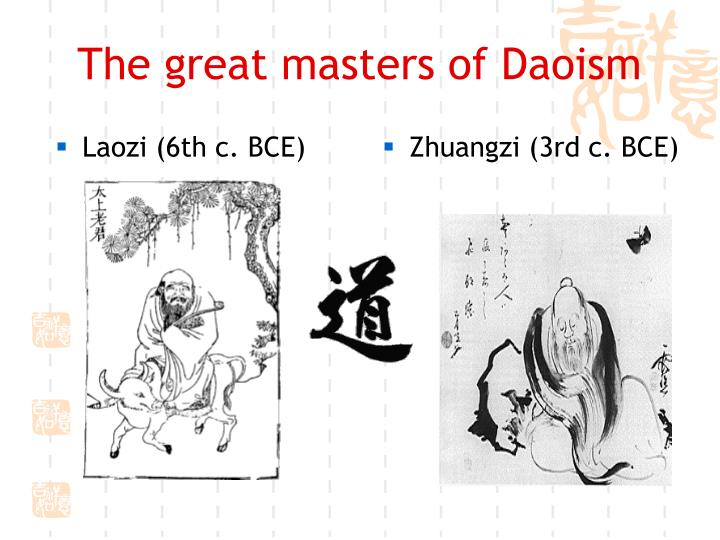 The great masters of daoism