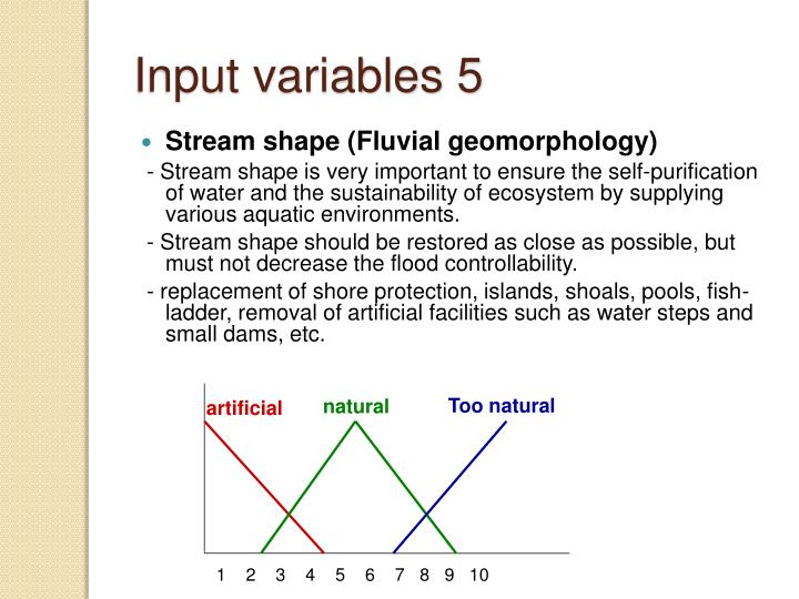 Input variables 5