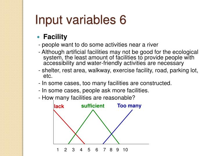 Input variables 6