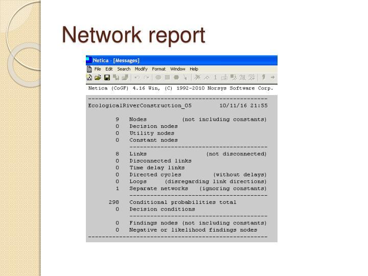 Network report