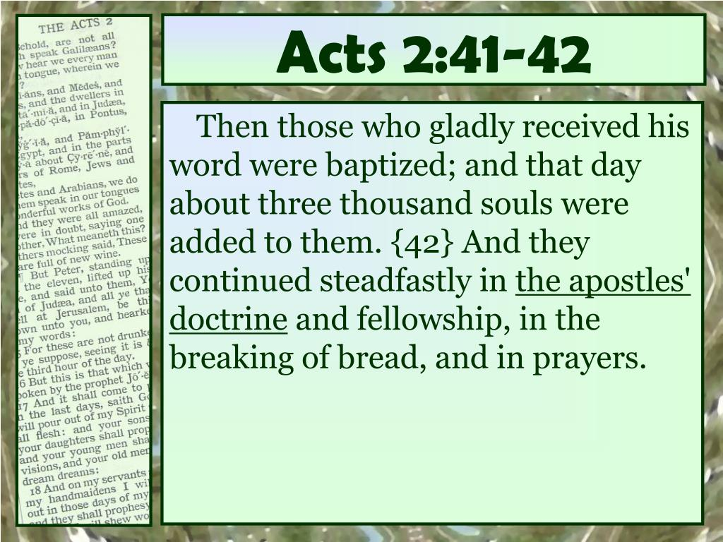 Acts 2:41-42