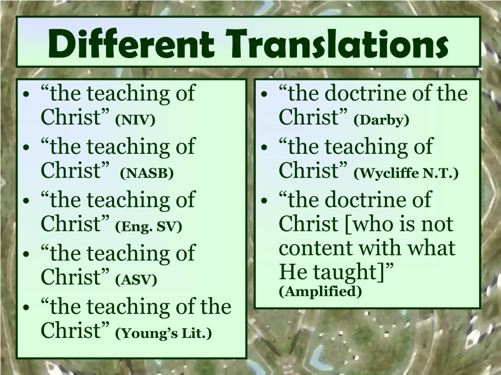 """the teaching of Christ"""