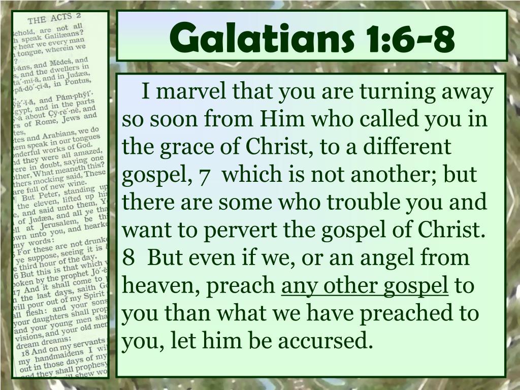Galatians 1:6-8