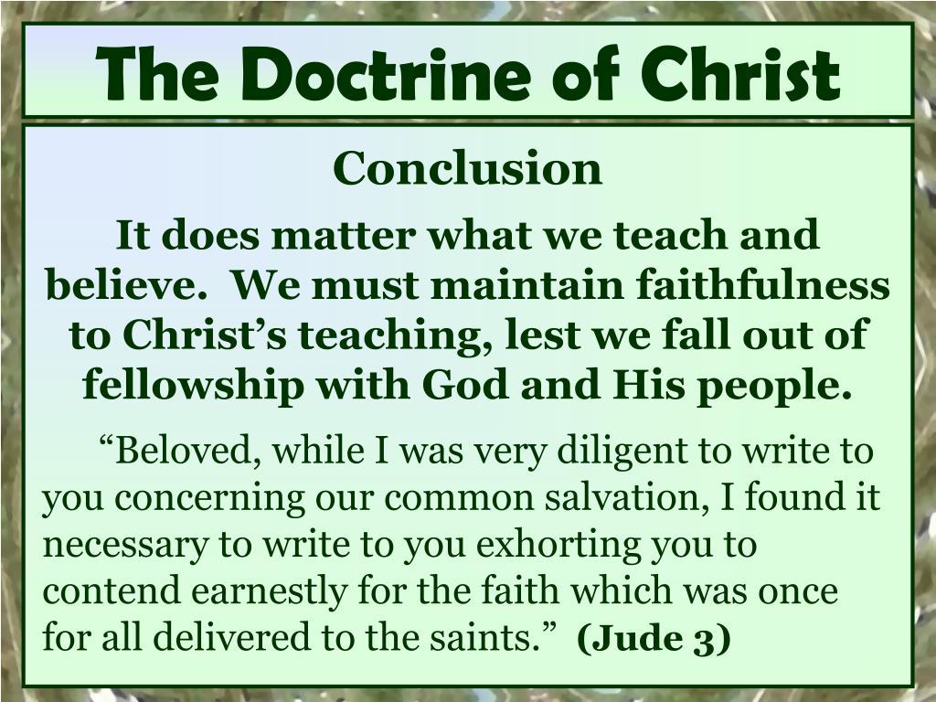 The Doctrine of Christ
