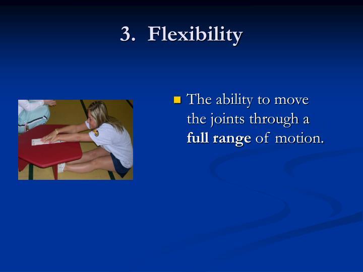 3.  Flexibility