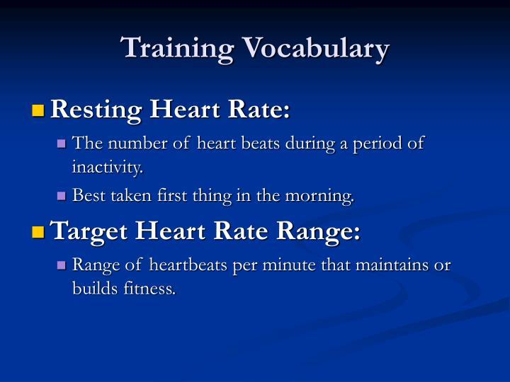 Training Vocabulary