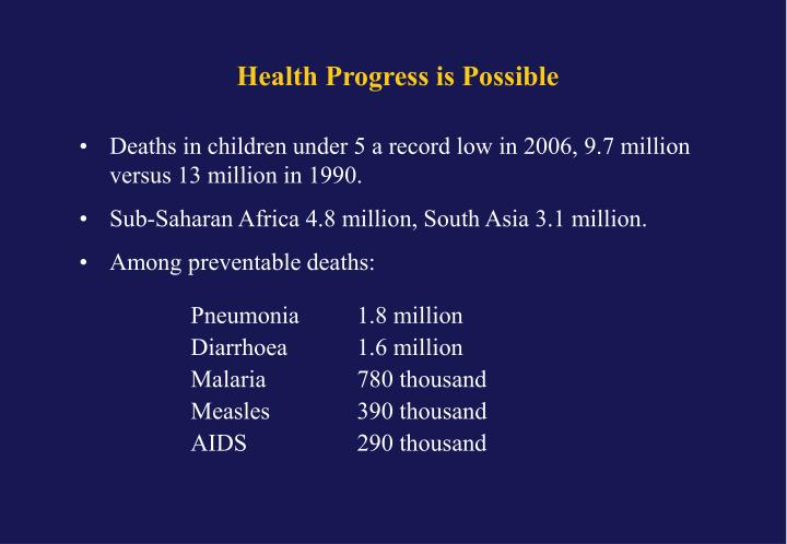 Health Progress is Possible