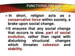 functionalism and religion1