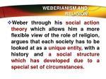 weberianism and religion
