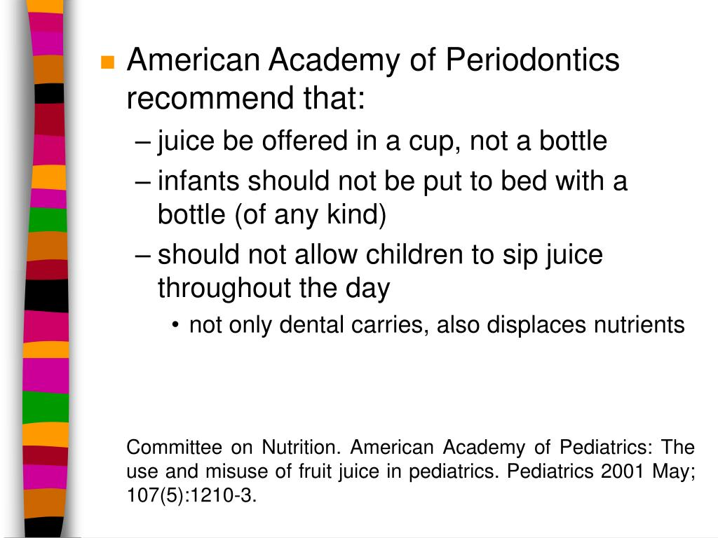 American Academy of Periodontics recommend that:
